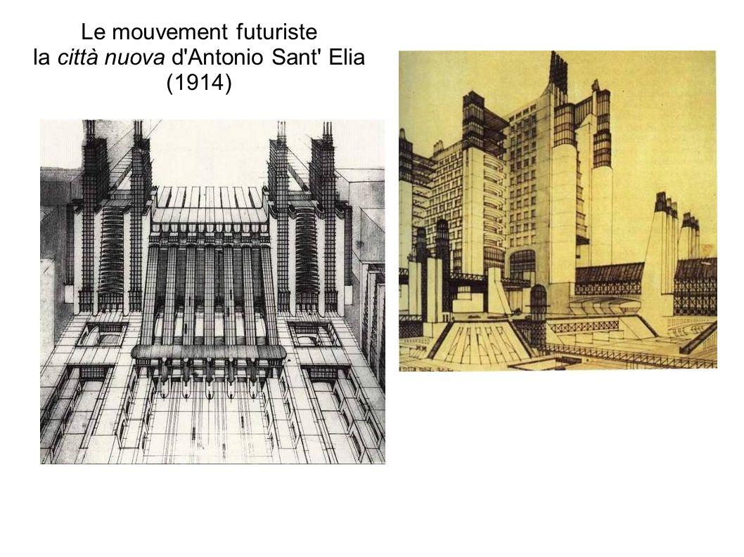 Le mouvement futuriste la città nuova d Antonio Sant Elia (1914)