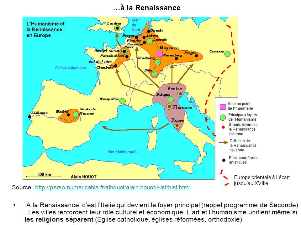…à la Renaissance Europe orientale à l'écart. jusqu'au XVIIIe. Source : http://perso.numericable.fr/alhouot/alain.houot/Hist/hist.html.