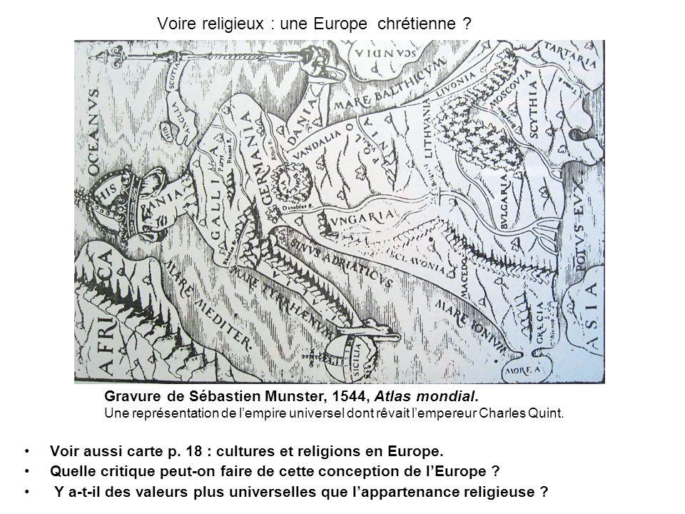 Voire religieux : une Europe chrétienne
