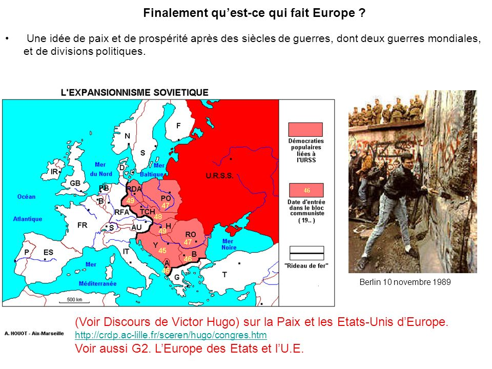 Finalement qu'est-ce qui fait Europe