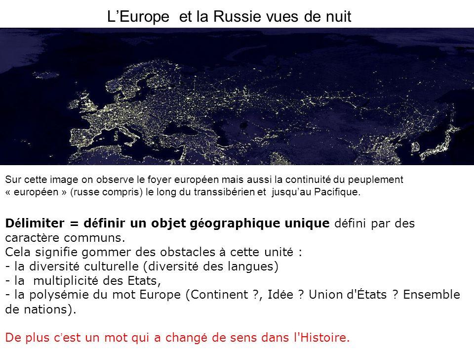 L'Europe et la Russie vues de nuit