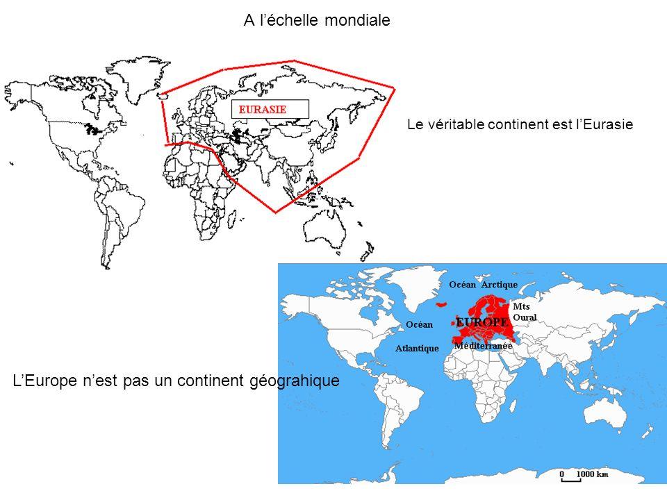 L'Europe n'est pas un continent géograhique