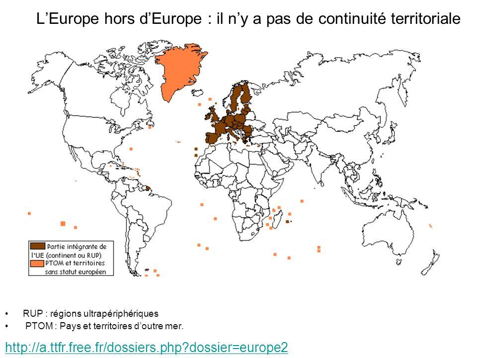 L'Europe hors d'Europe : il n'y a pas de continuité territoriale