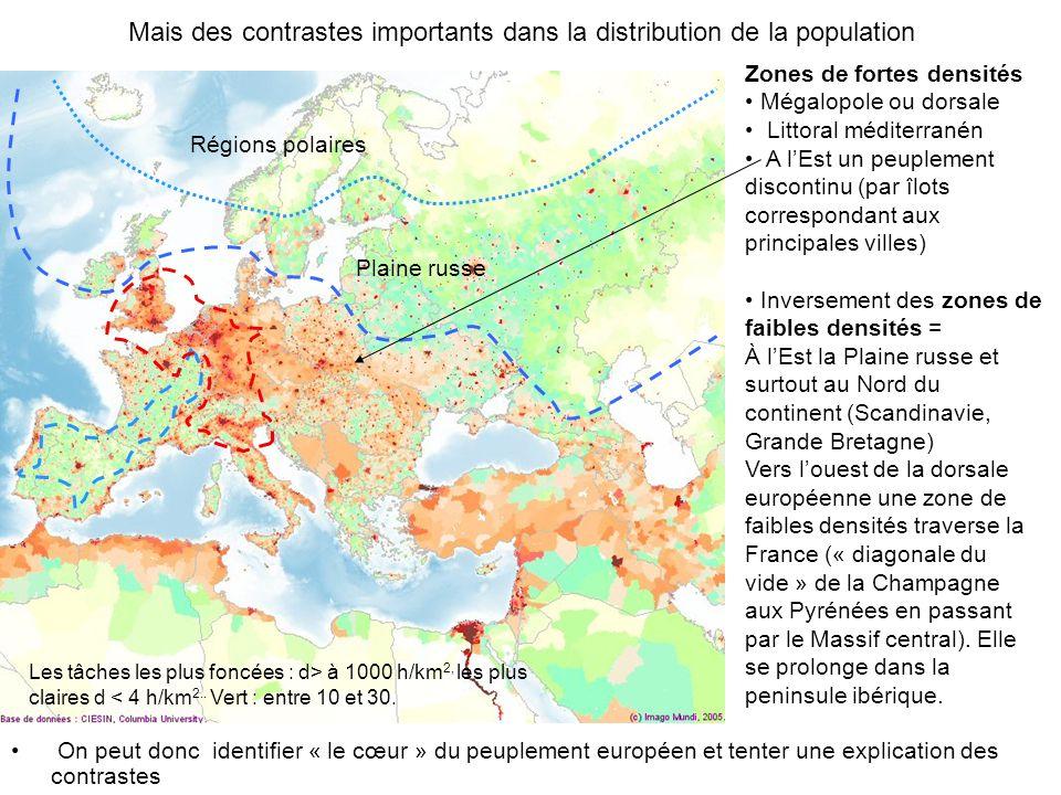 Mais des contrastes importants dans la distribution de la population