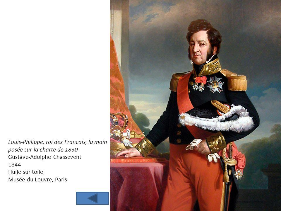 Louis-Philippe, roi des Français, la main posée sur la charte de 1830