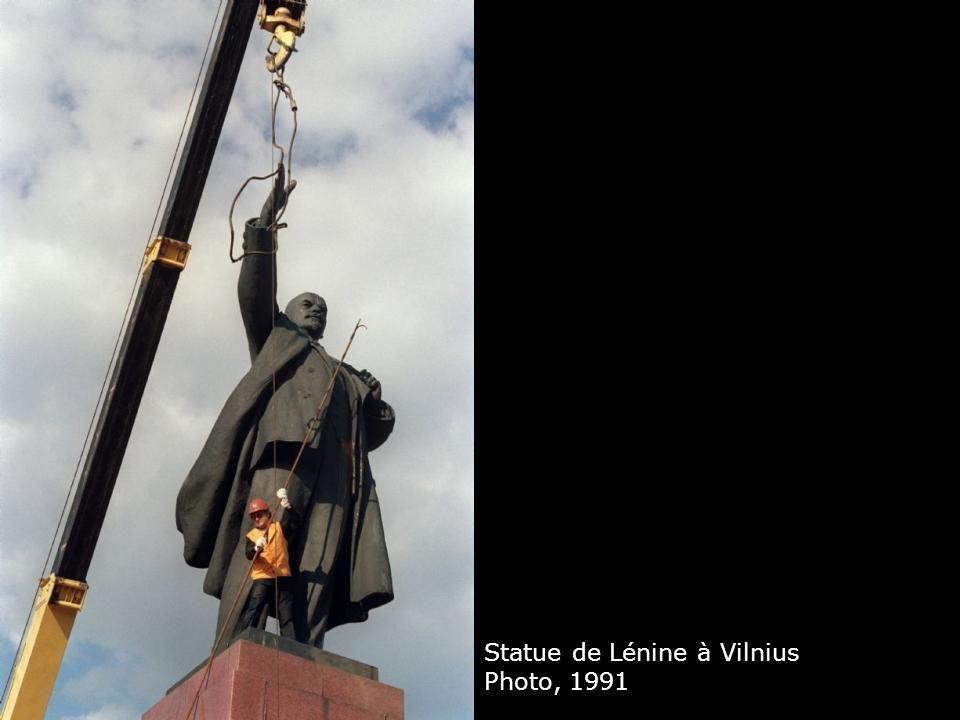 Statue de Lénine à Vilnius