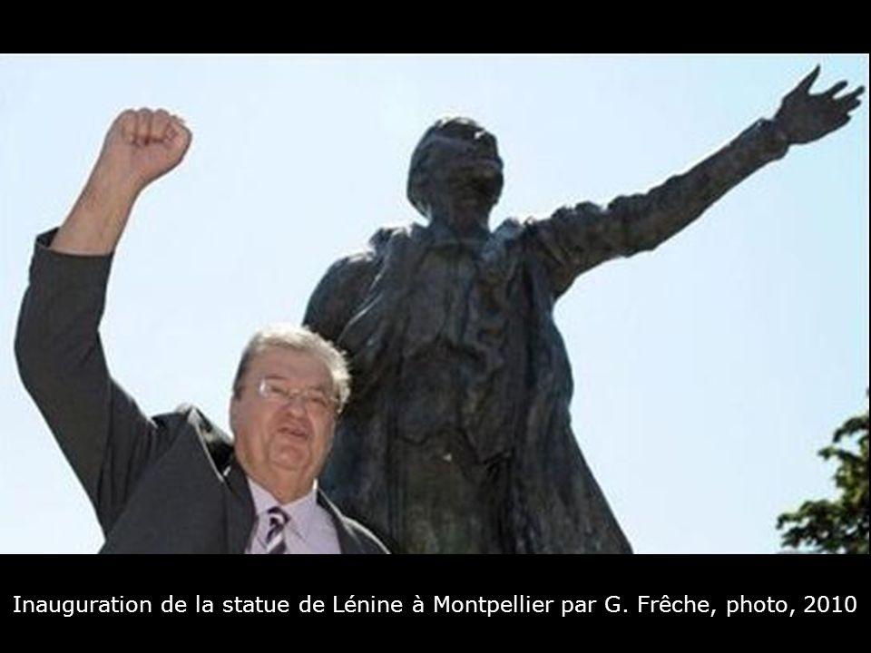 Inauguration de la statue de Lénine à Montpellier par G
