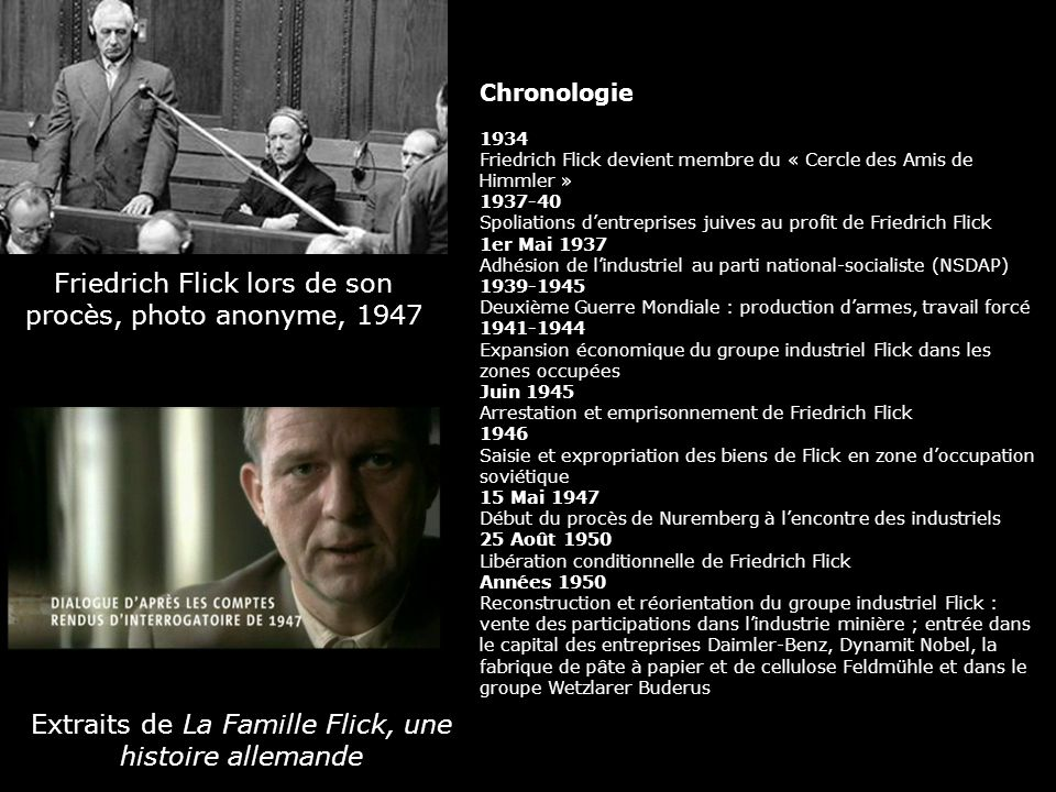 Friedrich Flick lors de son procès, photo anonyme, 1947