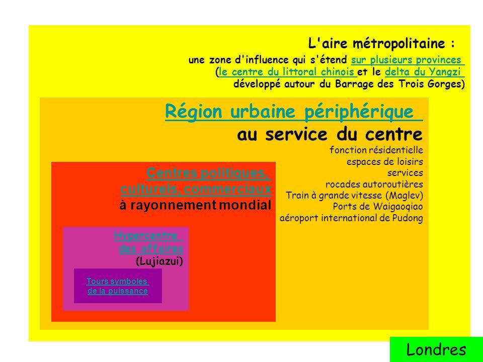 Région urbaine périphérique au service du centre
