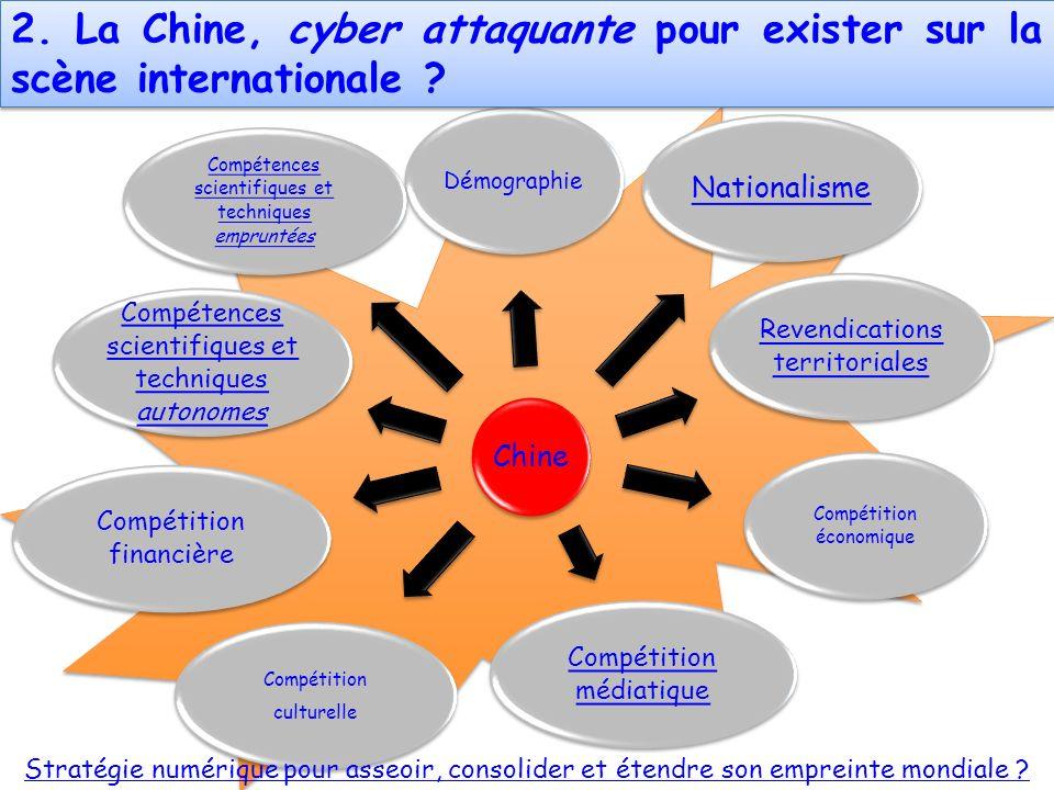 2. La Chine, cyber attaquante pour exister sur la scène internationale