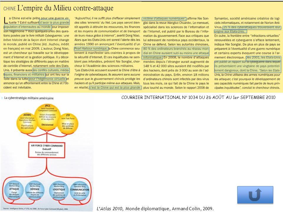 COURRIER INTERNATIONAL N° 1034 DU 26 AOÛT AU 1er SEPTEMBRE 2010