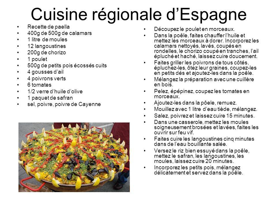 Cuisine régionale d'Espagne