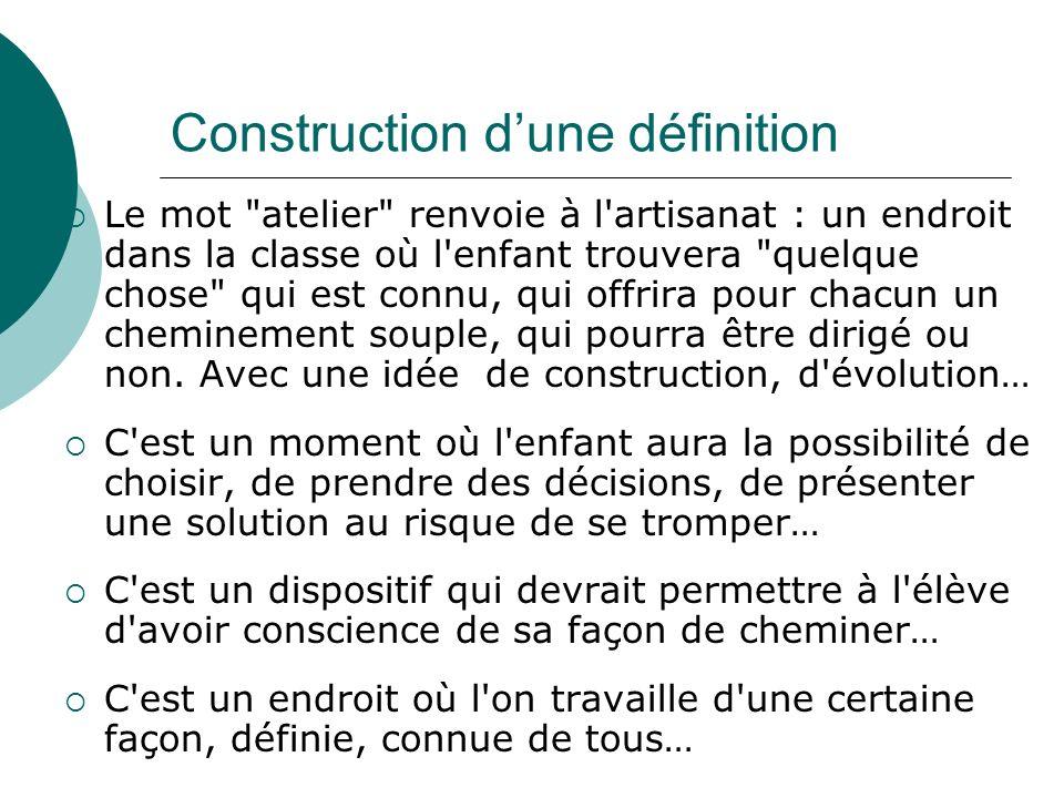 Construction d'une définition