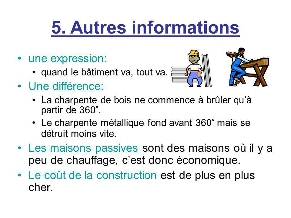 5. Autres informations une expression: Une différence: