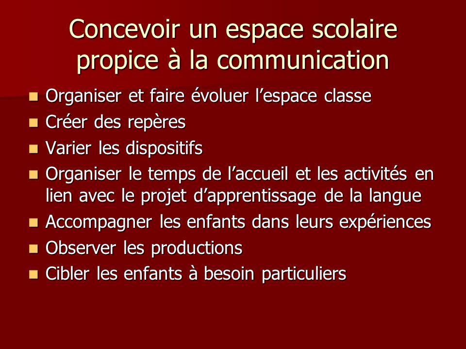 Concevoir un espace scolaire propice à la communication