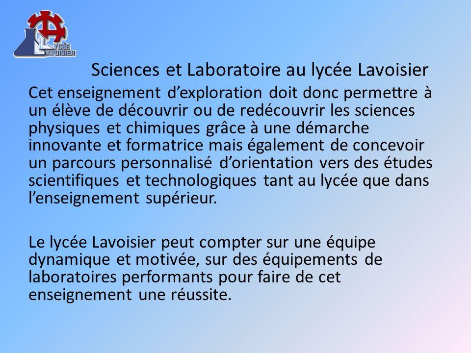 Sciences et Laboratoire au lycée Lavoisier