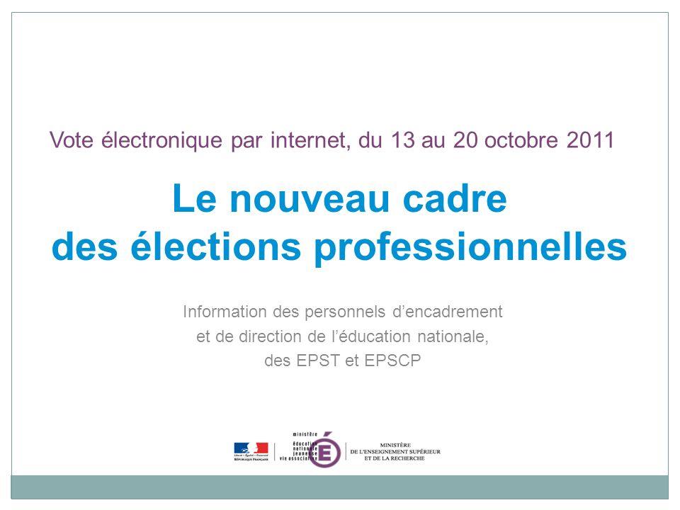 Le nouveau cadre des élections professionnelles