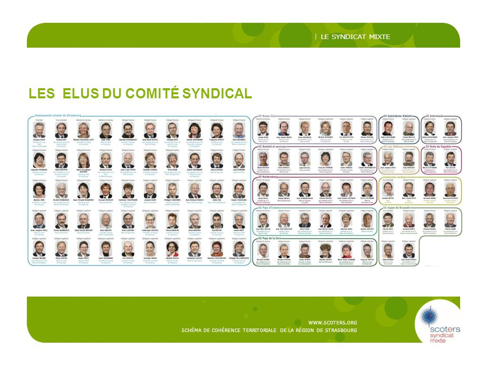 LES ELUS DU COMITÉ SYNDICAL