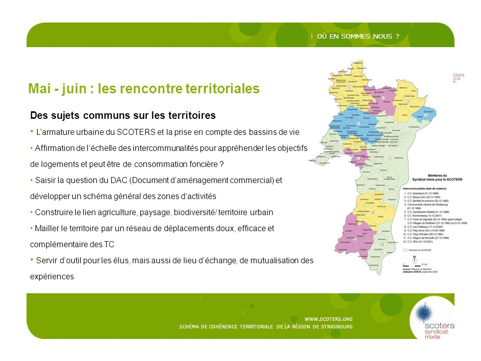 Mai - juin : les rencontre territoriales