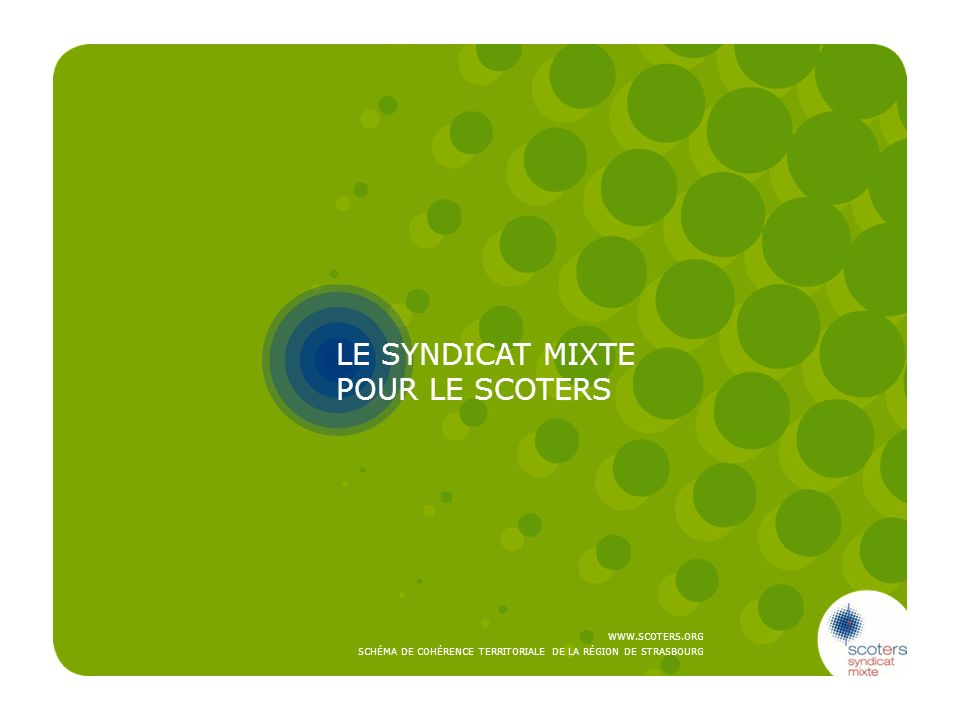 LE SYNDICAT MIXTE POUR LE SCOTERS