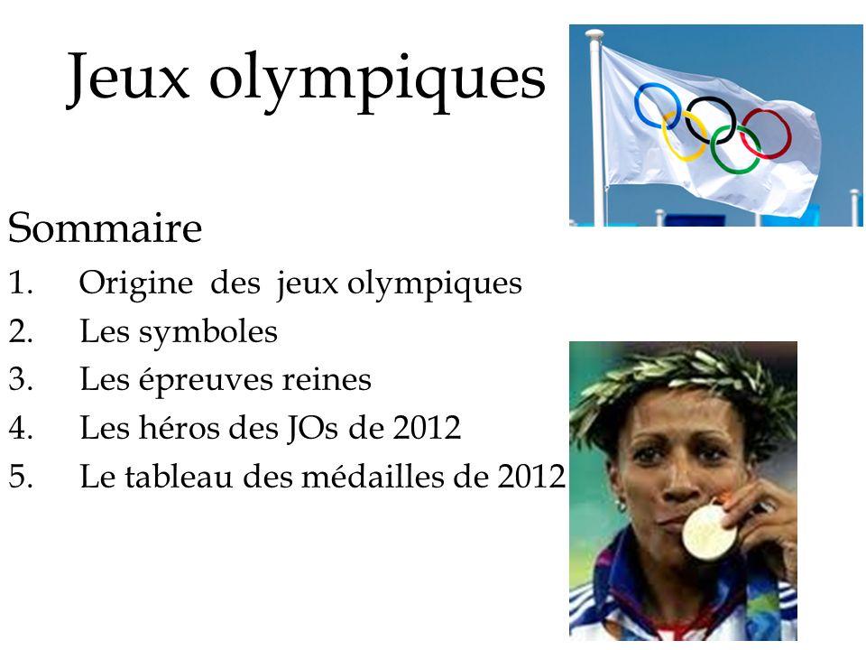 Jeux olympiques Sommaire Origine des jeux olympiques Les symboles