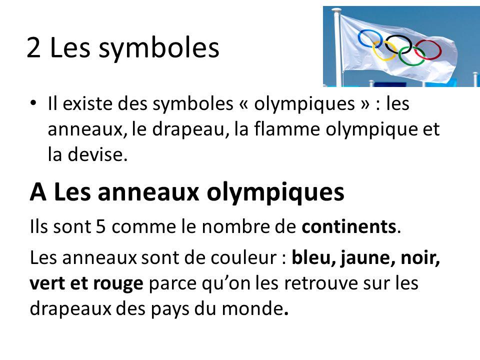 2 Les symboles A Les anneaux olympiques