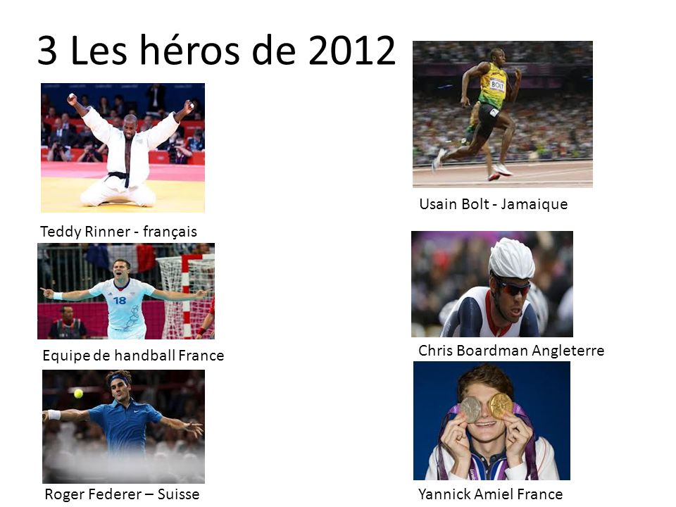 3 Les héros de 2012 Usain Bolt - Jamaique Teddy Rinner - français