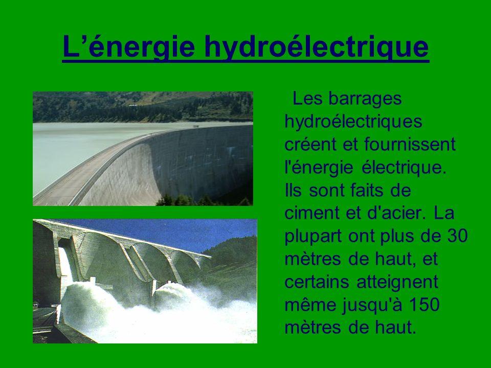 L'énergie hydroélectrique