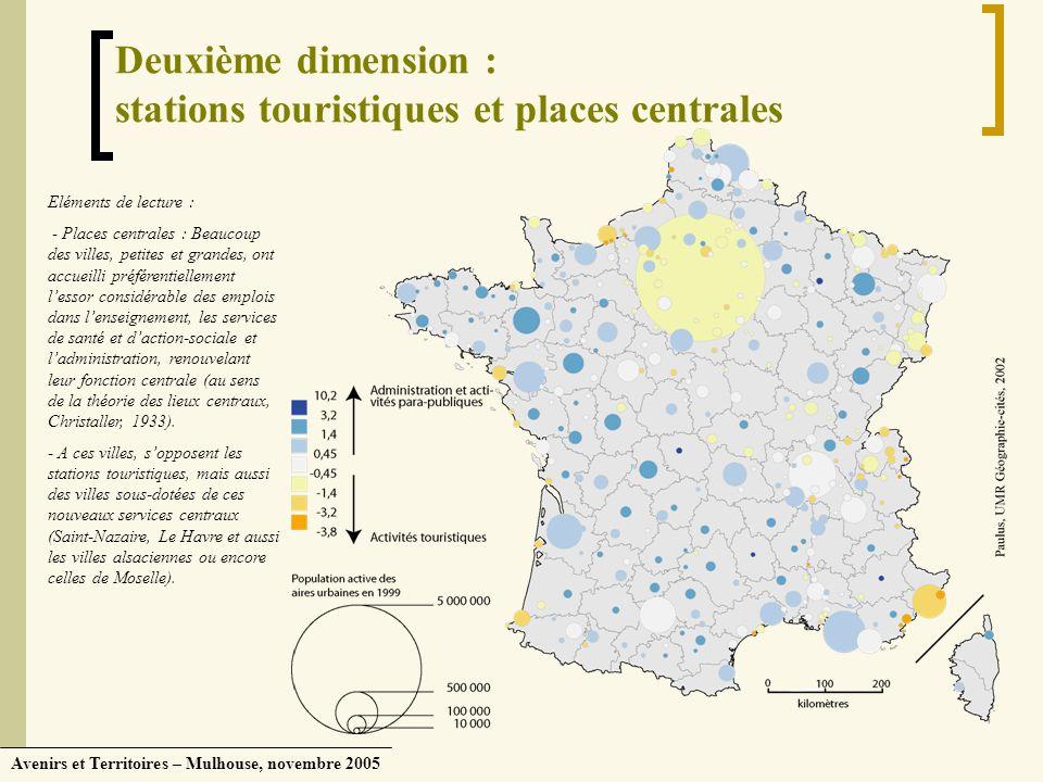 Deuxième dimension : stations touristiques et places centrales