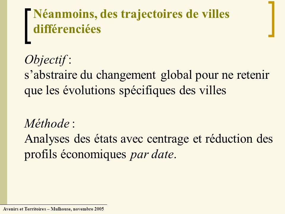 Néanmoins, des trajectoires de villes différenciées