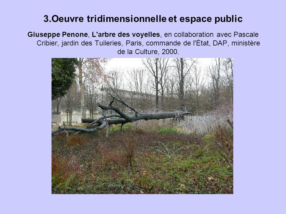 3.Oeuvre tridimensionnelle et espace public