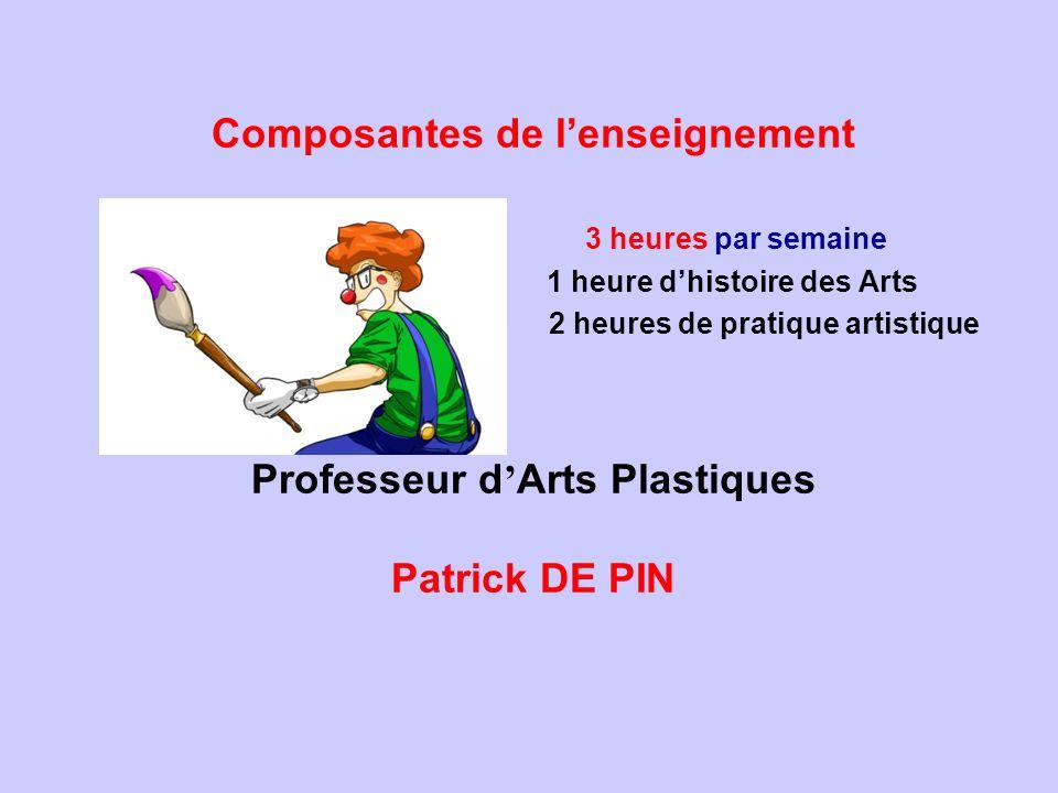 1 heure d'histoire des Arts 2 heures de pratique artistique