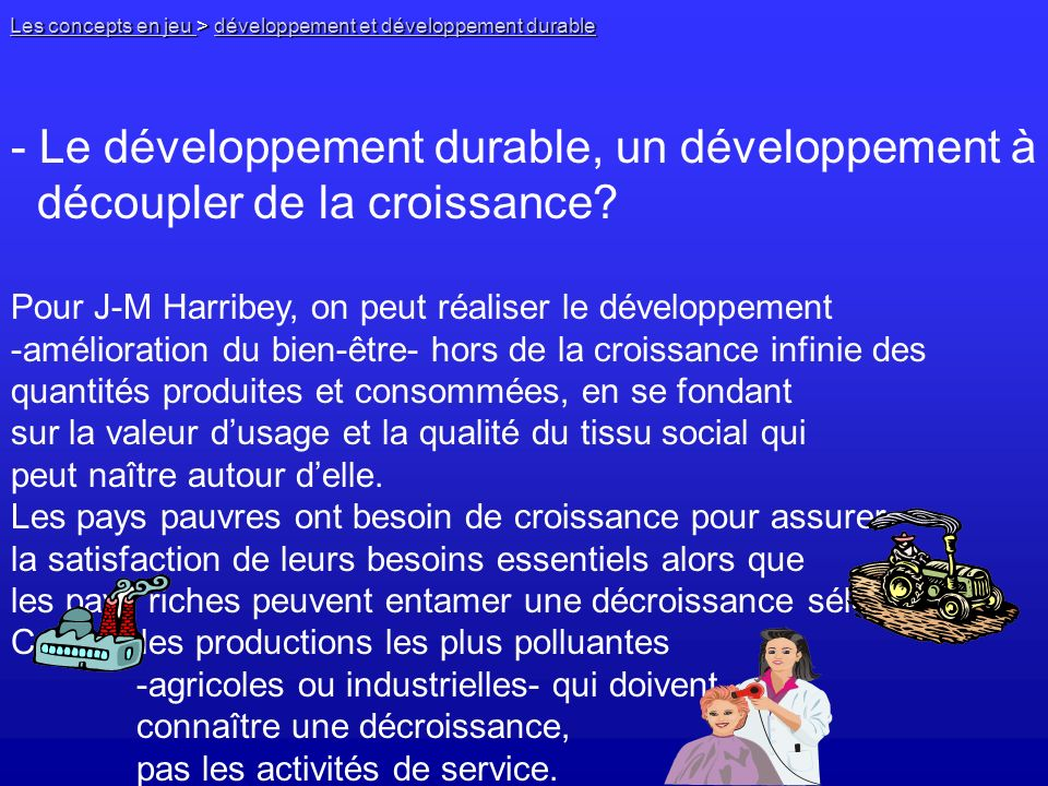 - Le développement durable, un développement à