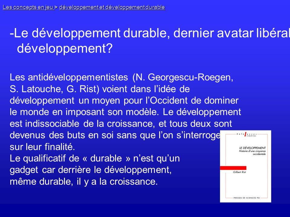 Le développement durable, dernier avatar libéral du développement