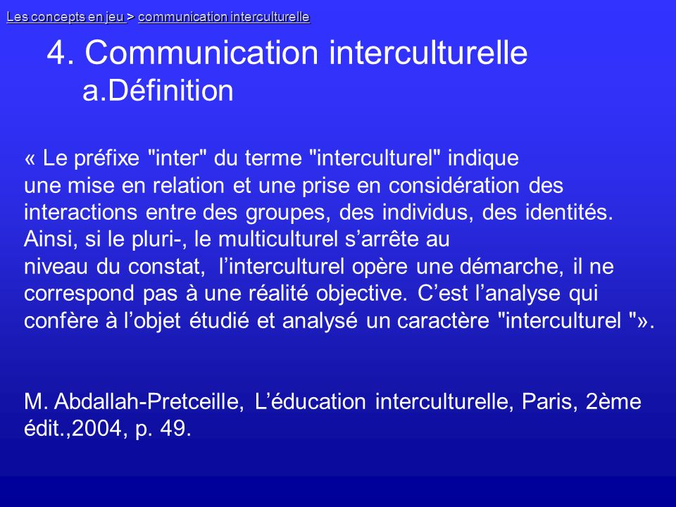 a.Définition 4. Communication interculturelle