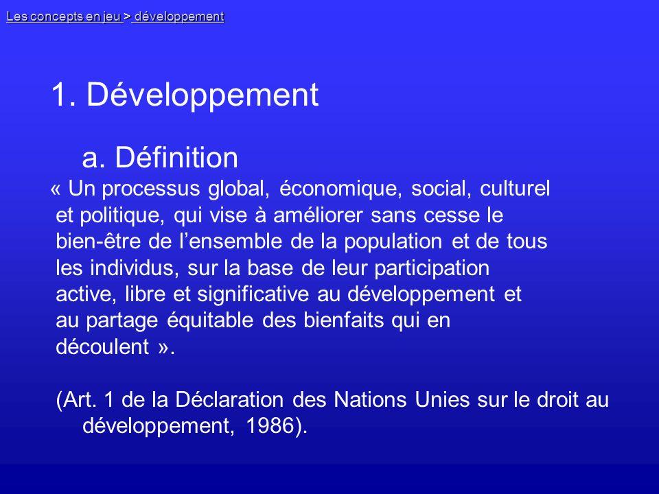 1. Développement a. Définition