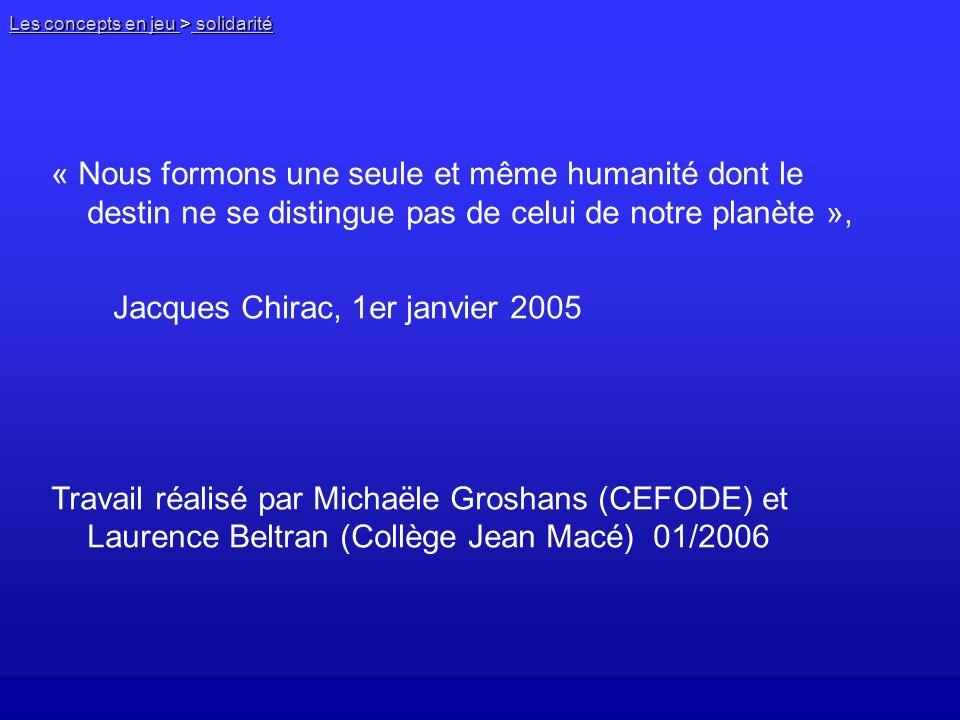 Jacques Chirac, 1er janvier 2005