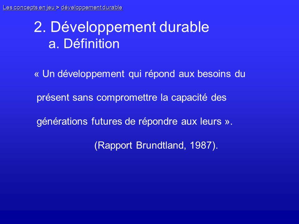2. Développement durable