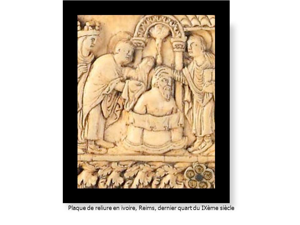 Plaque de reliure en ivoire, Reims, dernier quart du IXème siècle