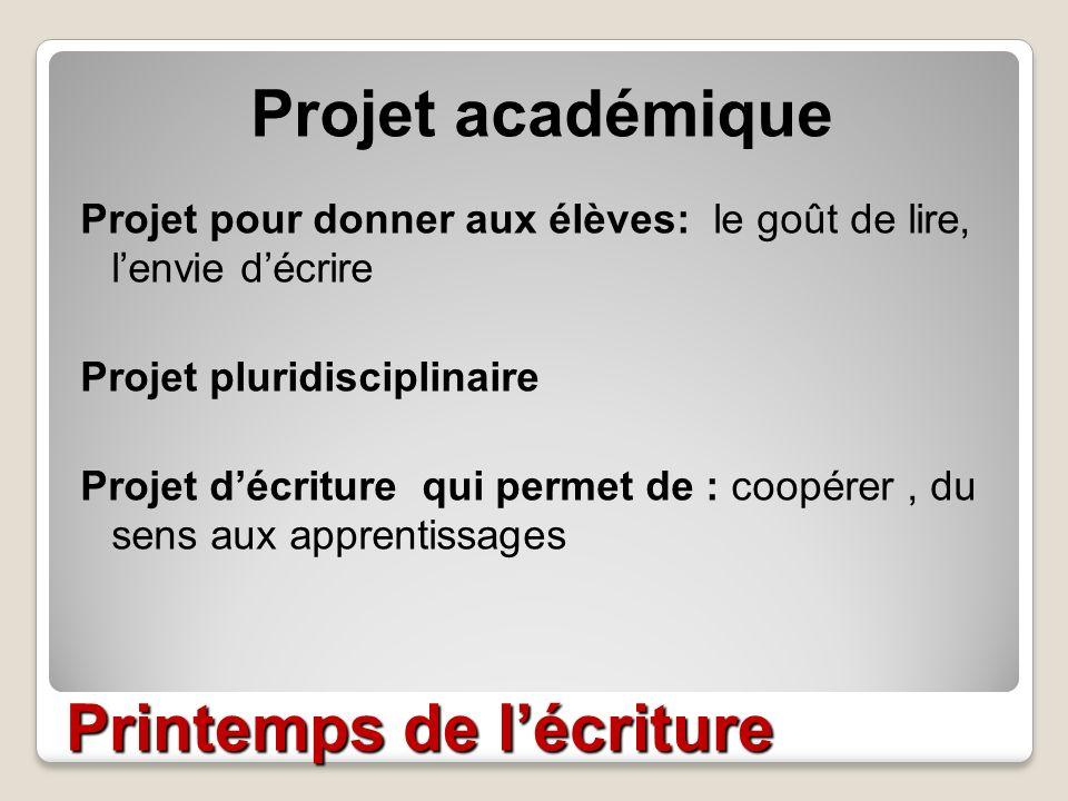 atelier p u00e9dagogique printemps de l u2019 u00e9criture
