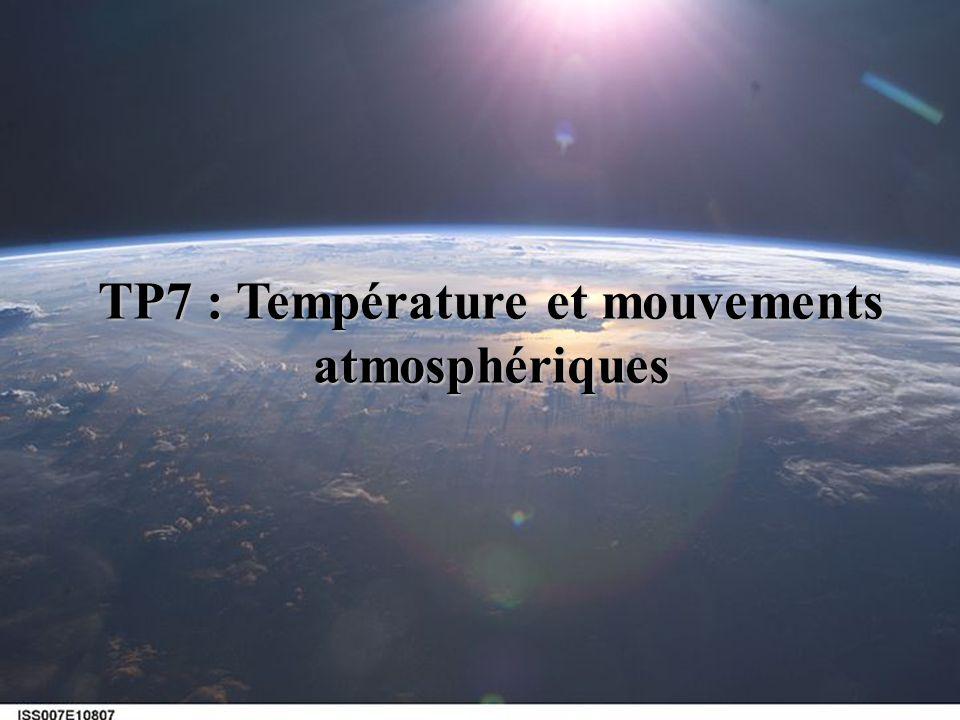 TP7 : Température et mouvements atmosphériques
