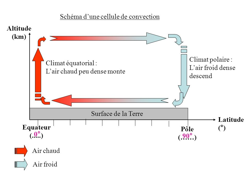 Schéma d'une cellule de convection