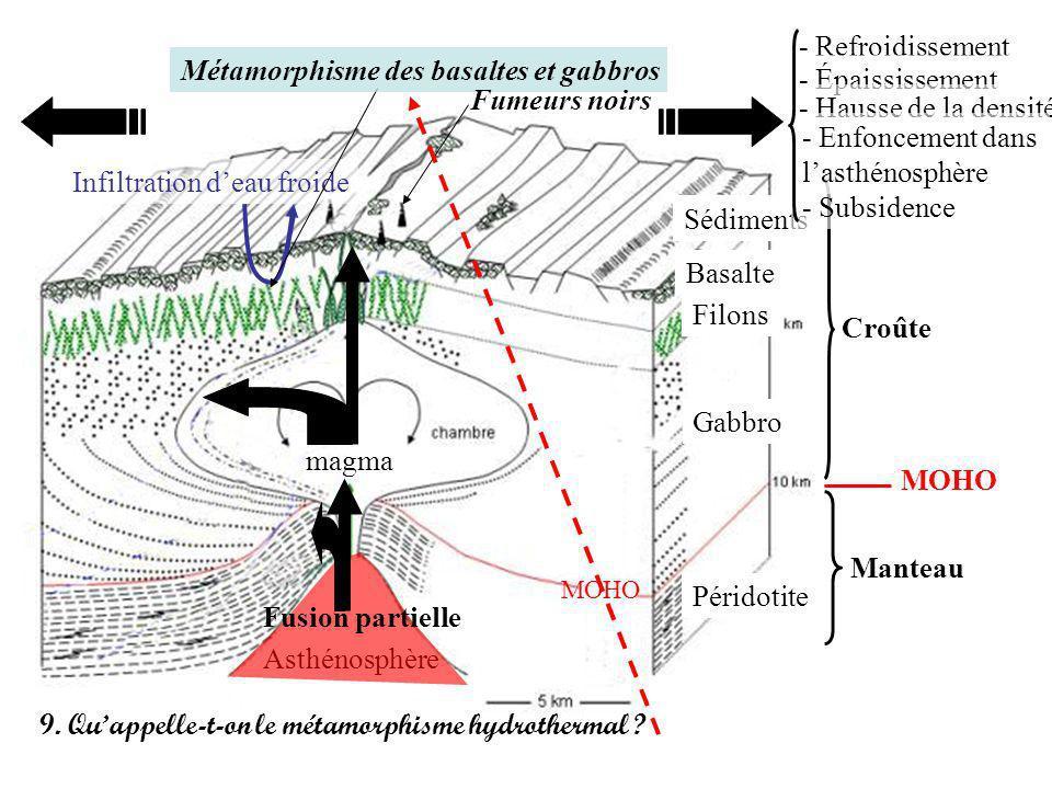 Métamorphisme des basaltes et gabbros - Épaississement Fumeurs noirs