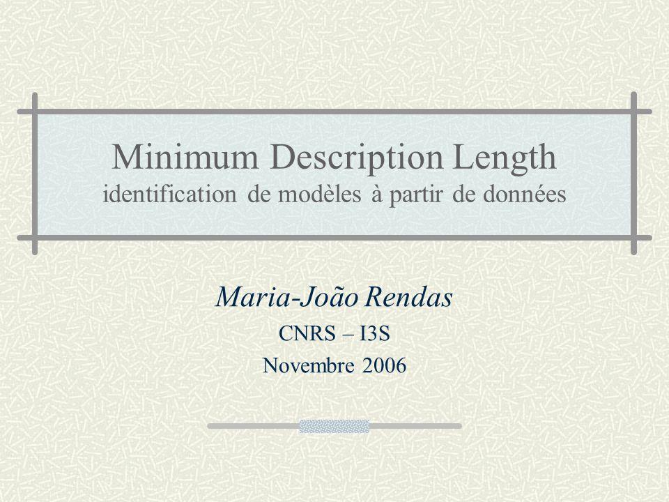 Maria-João Rendas CNRS – I3S Novembre 2006