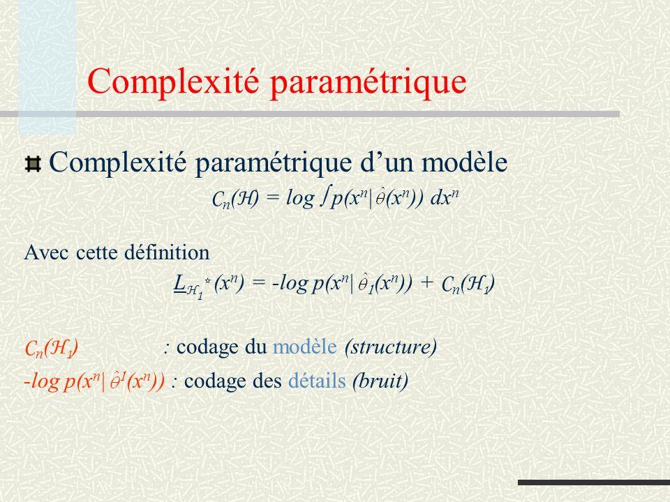 Complexité paramétrique