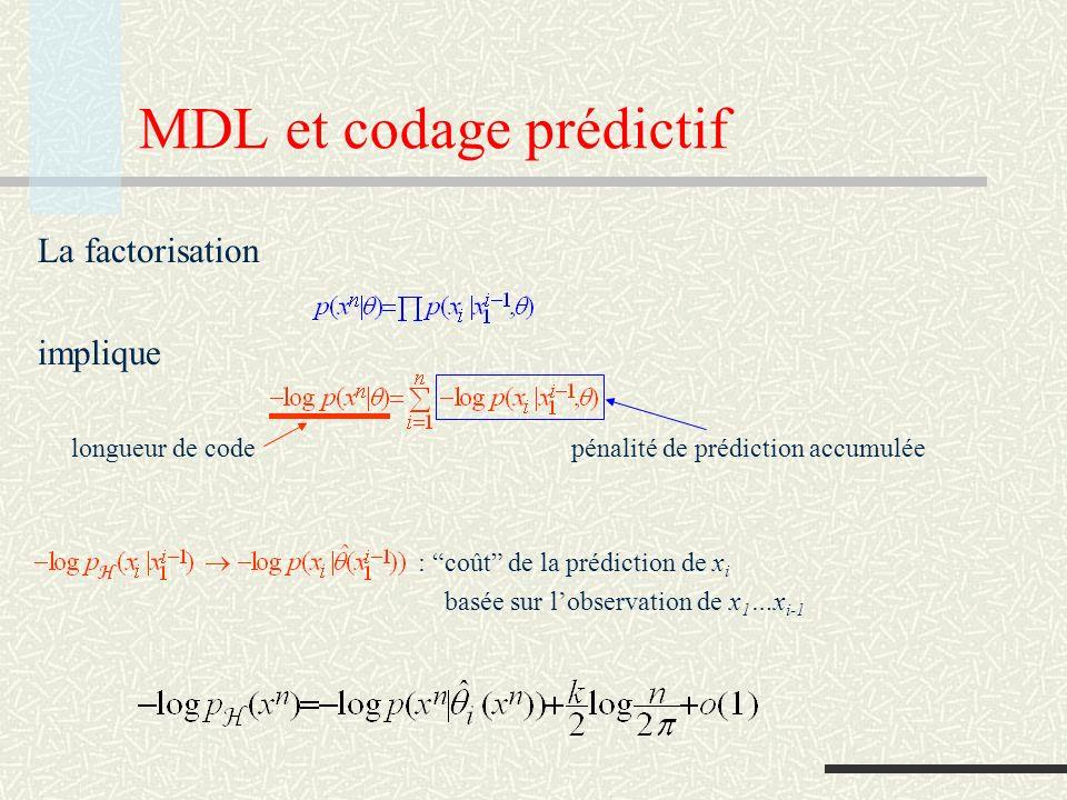 MDL et codage prédictif