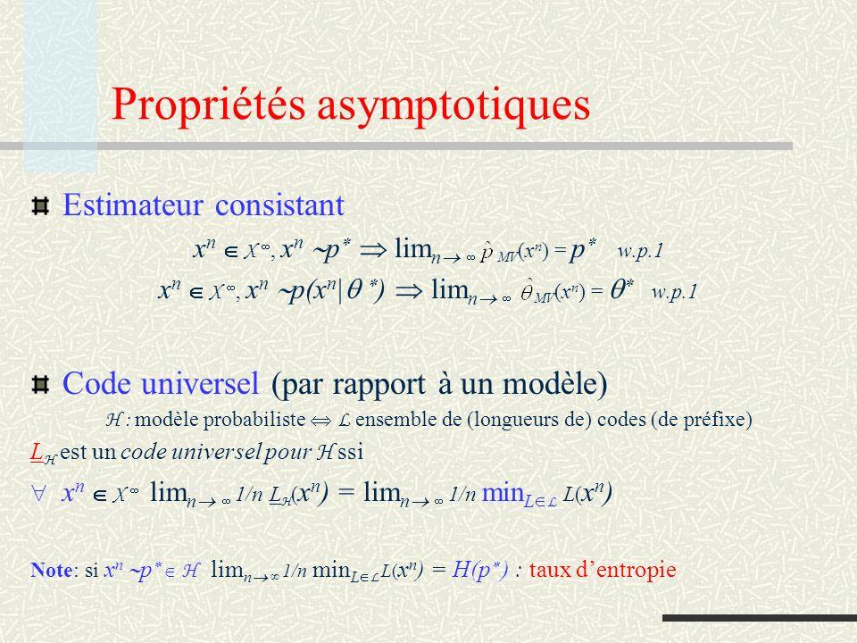 Propriétés asymptotiques