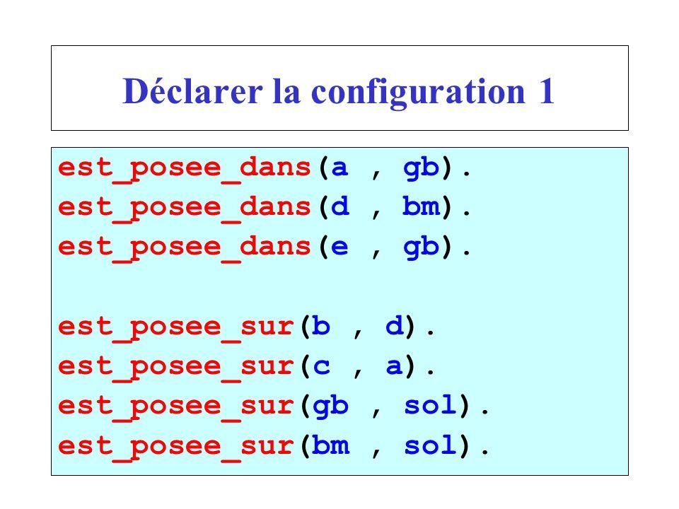 Déclarer la configuration 1