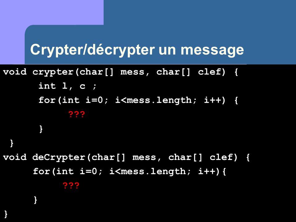 Crypter/décrypter un message