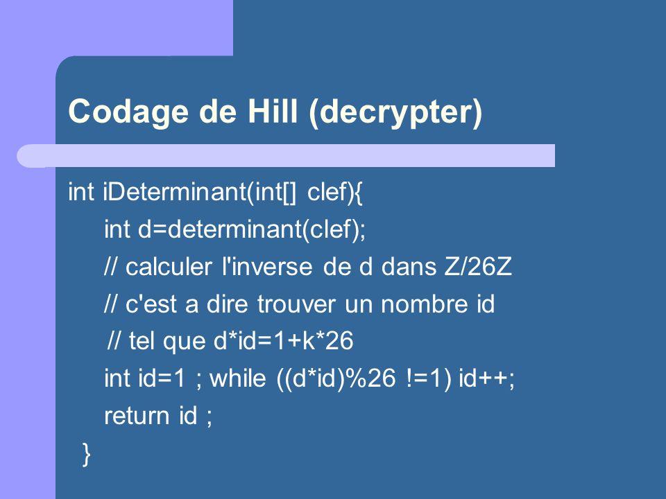 Codage de Hill (decrypter)